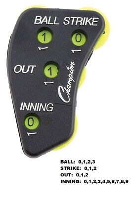 New Champion 4 Wheel Call Order Umpire Indicator Ball Strike Outs Inning PI4