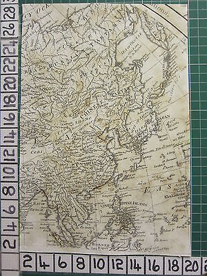 1782 Antique (Part) Map ~ Asia China Japan Philippine Corea Sayer ~ Kitchin