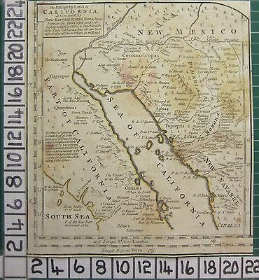 1782 Antique Map Passage By Land To California New Mexico Sayer ~ Kitchin