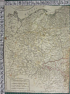 1782 Antique (Part) Map ~ Germany Great Poland Moravia Hungary Sayer ~ Kitchin