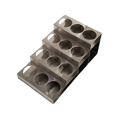 12 bottle rack fifths or syrup, stainless steel, 5004387
