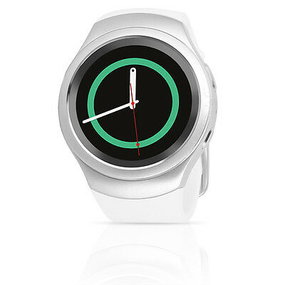 Samsung Gear S2 (SM-R720) Android Smartwatch w/ Rubber Band - Silver / White