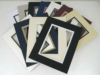 Set of 20 16x20 MIXED COLOR Double Mats pre-cut mat for 11x14 picture