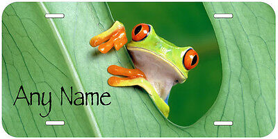 Red Eye Frog Personalized Any Name Novelty Car Auto License Plate