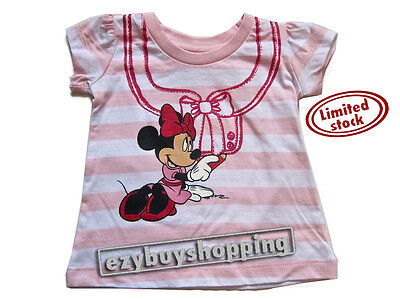 Disney Minnie Mouse Summer Top Tee Baby Girls T-Shirt 0