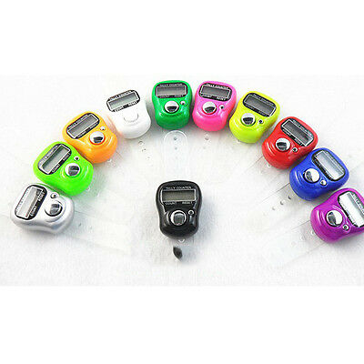 5pcs Mini LCD Electronic Digital Golf Finger Hand Ring Tally Counter, US Seller
