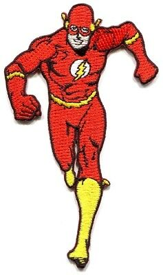 THE FLASH running EMBROIDERED IRON-ON PATCH **Free Shipping** P-DC-13 DC Comics