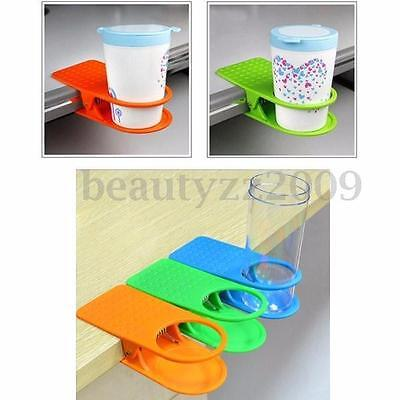 Plastic Car Vehicle Table Desk Cup Holder Clip Drink Clip Water Coffee Holder