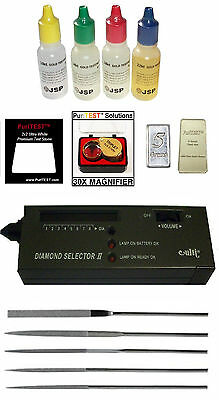 GOLD ACID TEST KIT + Diamond Tester for Testing Scrap Jewelry Rings Coins Bars