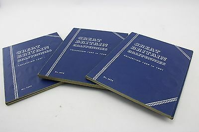 Whitman Pennies of Britain Original Blue Flip Folders with Coins