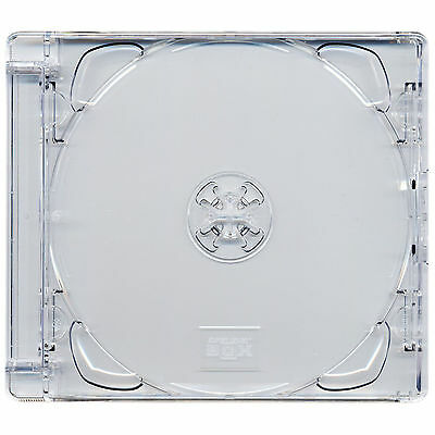 5 x CD Super Jewel Box 10.4mm Standard Cases for 1 or 2 Discs Pack of 5