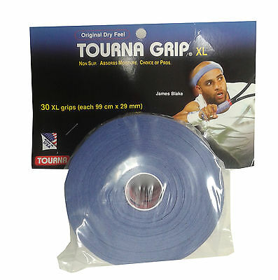 Tourna Tac XL Pro 30 pack tennis badminton squash racquet racket over grip
