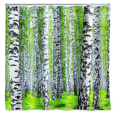 "BIRCH TREES FOREST Printed Shower Curtain, 72"" x 72"", by Kikkerland"