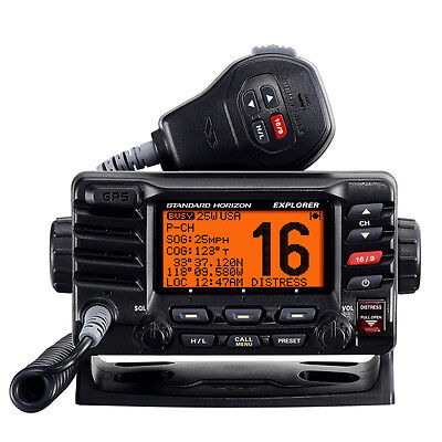 Standard Horizon Marine Boat Explorer GPS Fixed Mount VHF Black 25 Watt GX1700B