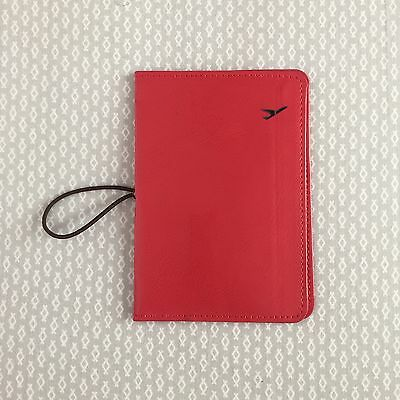 Travel Leather Passport ID Holder Card Cover Protector Wallet - Red US SELLER