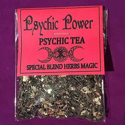 🌿 Psychic Power 🌿 Psychic Tea • Special Mixed Herbal • Wicca Spell Ritual