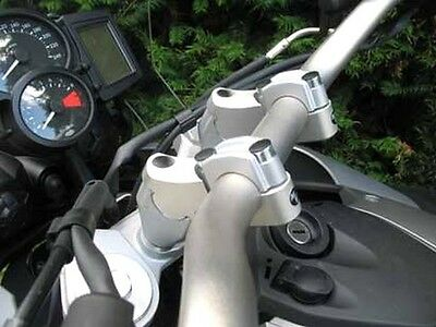 "BMW  F800GS Handlebar Risers 50mm almost 2"" rise add comfort to your next ride!"