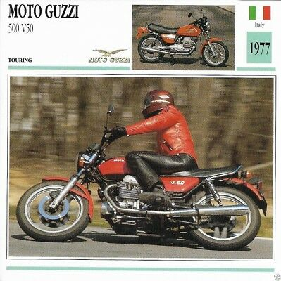 Motorcycle Spec Sheet Moto Guzzi 1977