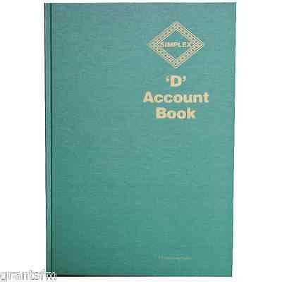 Simplex D Accounts Full Year Record Accounting Tax Account Book Business Records