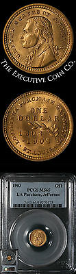 1903 Louisiana Purchase Jefferson Gold $1 PCGS MS65