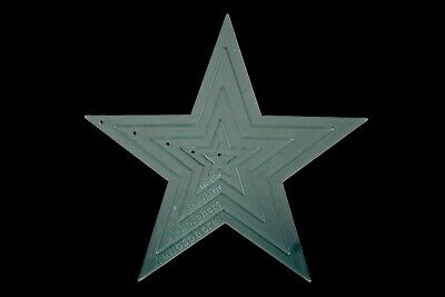 A set of five acrylic star sewing/craft templates