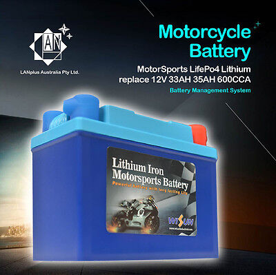 12V 600CCA Lithium Motorcycle Battery replace YTX30L-BS Benelli BMW Ducati Honda