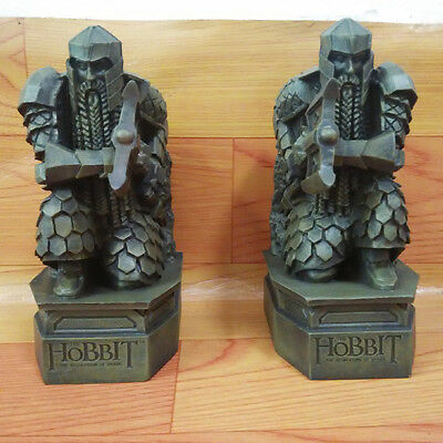 2pcs The Hobbit 2 The Desolation of Smaug Lonely Mountain dwarf statue Bookends
