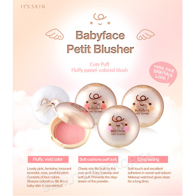 [IT'S SKIN] Babyface Petit Blusher 5 Color 4g / Blusher and Shading