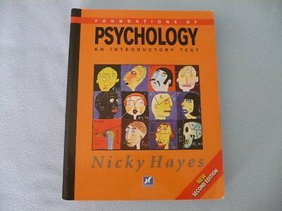 Foundations of Psychology: An Introductory Text, Hayes, Nicky Paperback Book The