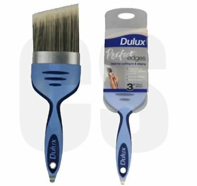 "DULUX PERFECT EDGE 3"" / 75mm ANGLE PAINT BRUSH - NO LOSS BRISTLES"