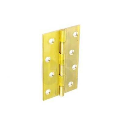 SECURIT S4203 BRASS BUTT DOOR HINGES WITH FIXINGS - 50mm PACK OF TWO