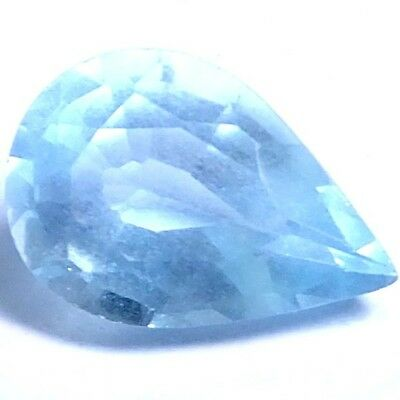 NATURAL UNBELIEVABLE BLUE AQUAMARINE LOOSE GEMSTONE (9.5 x 6.5 mm) PEAR SHAPE