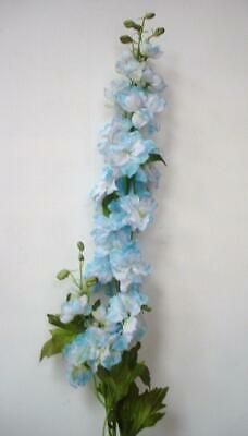 New 6 Stems Deluxe Quality Delphinium 'Light Blue' Artifical Silk Flowers