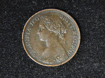 1862 Great Britain Farthing - Young Victoria