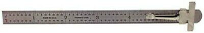 6 Stainless Flex Round End Ruler Metric 64th Scale Made In USA PEC 7203, TBR2