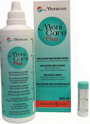 Menicare soaking solution for gas permeable RGP contact lenses X 3
