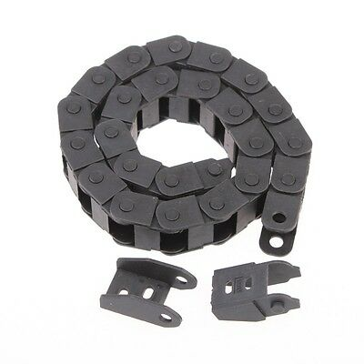 """1pc Cable drag chain wire carrier 10*15mm R28 1000mm (40"""")"""