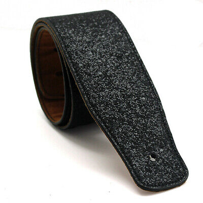 Classic Soft Guitar Strap Thick PU Leather Belt Acoustic Electric Bass Black