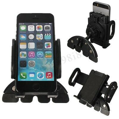 Car CD Slot Mobile Phone GPS Sat Nav Stand Holder Mount For iPhone 7 Samsung 8