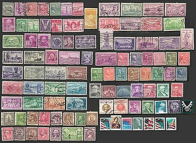 UNITED STATES USA Collection of 100 Stamps OLD