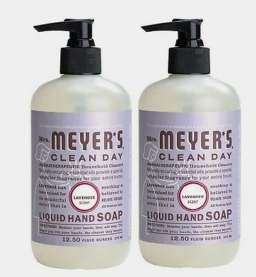 *2* 11104 Mrs.Meyer's Clean Day 12.5oz Liquid Hand Soap Lavender Scent Hand Wash