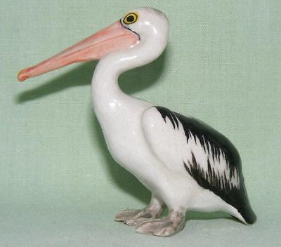 Klima Miniature Porcelain Bird Figure Pelican Standing Beak Out K668