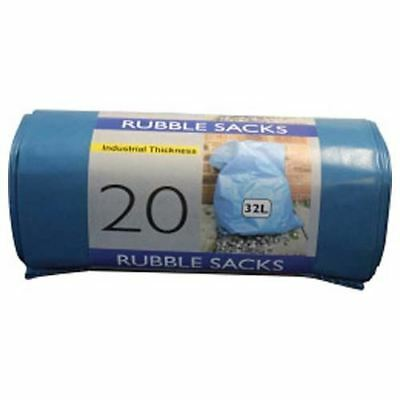 NEW Heavy Duty Industrial Waste Rubble Sacks 32ltr  Pack of 20 - FREE SHIPPING