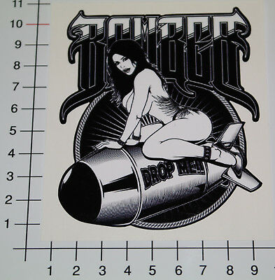 PIN UP BOMBER GIRL Aufkleber Sticker DROP ME OldSchool US Army Hot Rod V8 Pu061