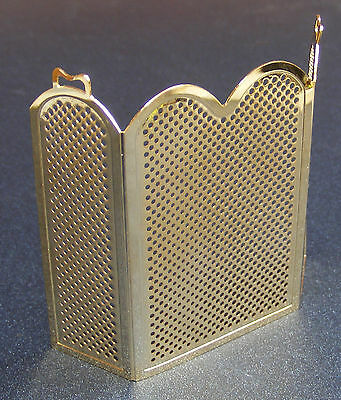 1:12 Scale Brass Fire Screen - Guard Dolls House Metal Miniature Accessory