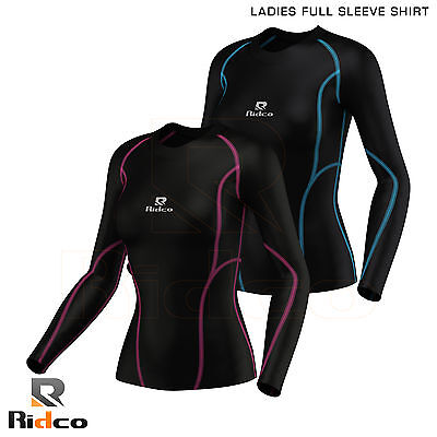 Ladies Compression Shirt Thermal Tights Long Sleeve Base Layer Shirt Sports Gym