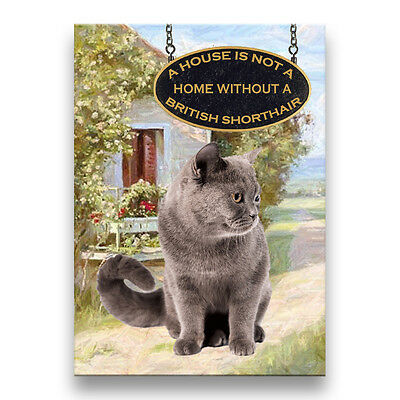BRITISH SHORTHAIR CAT A House is Not a Home Fridge Magnet No 1