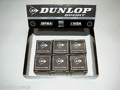 6 Dunlop Competition Single Yellow Squash Balls Wsf App