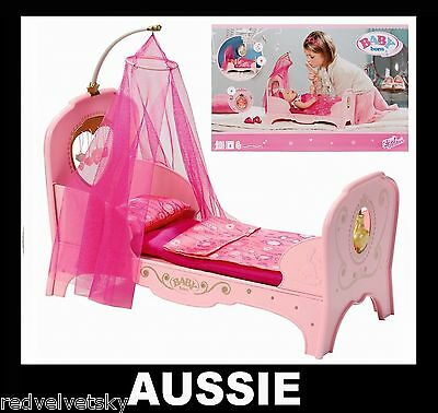 NEW BABY BORN ~ Interactive PRINCESS BED for Girl Doll ~ Zapf Creation