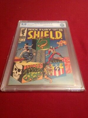 NICK FURY, AGENT OF SHIELD #1 1968 CBCS 8.0 Steranko MEGA KEY ISSUE!! not CGC